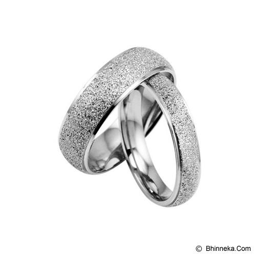 TITANIUM RING Cincin Couple Size 6(F) & 9(M) [GS279] - Silver & Silver - Cincin